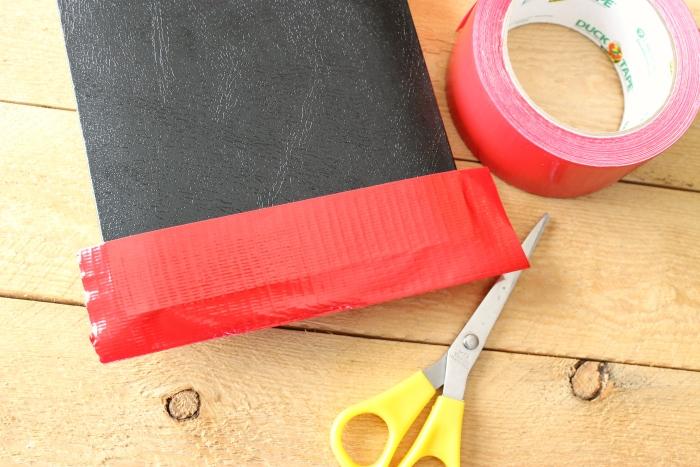 DIY autograph book duck tape