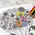 Mothers Day Printable coloring page pencils