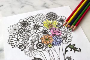 Fun Mother's Day Flower Printable Coloring Page