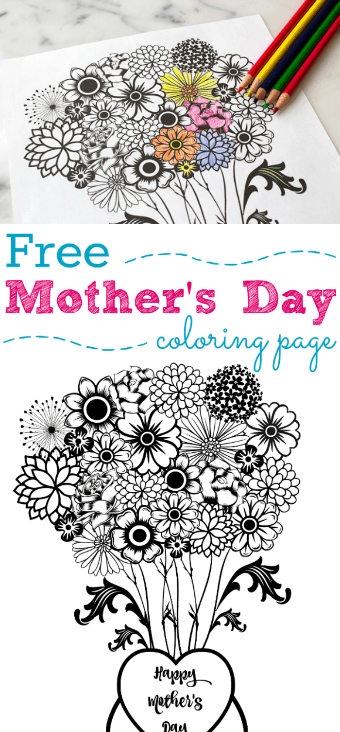 fun mother u0027s day flower printable coloring page