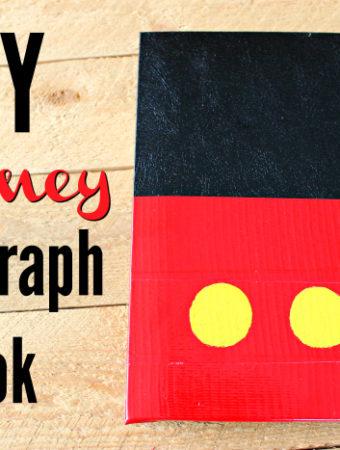 Easy DIY Autograph Book For Disney