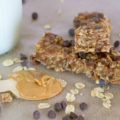 no bake homemade chewy granola bars with chocolate