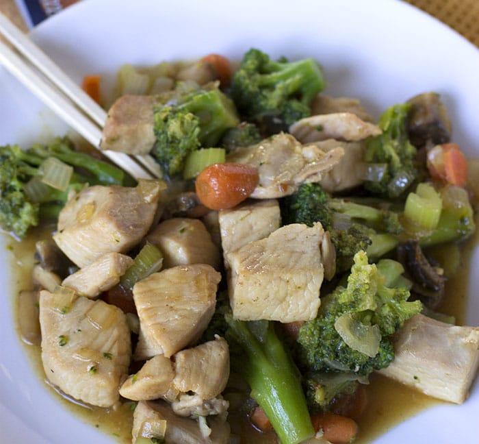skillet vegetable chicken teriyaki