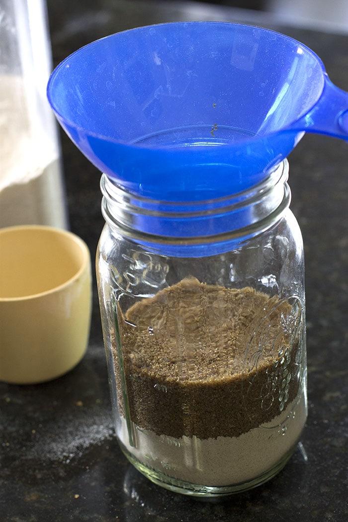 Adding brown sugar to homemade brownie mix