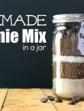 Easy Homemade Brownie Mix in a Jar